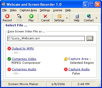 Webcam and Screen Recorder 8.1.028 screenshot