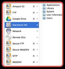 Webdrive for MAC 3.31 screenshot