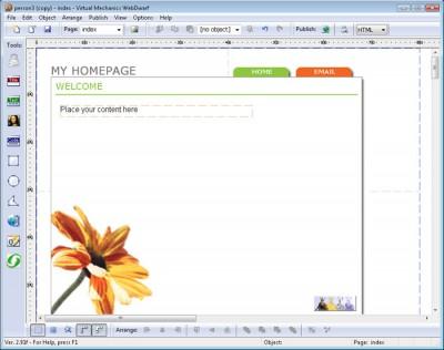 WebDwarf Free Web Page Maker 2.92p screenshot