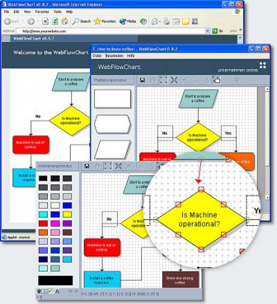 WebFlowChart 0.8.8 screenshot
