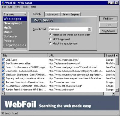 WebFoil 2.1 screenshot