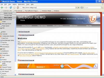 WebGUI 7.4.9 screenshot