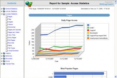 WebLog Expert Lite 5.8 screenshot