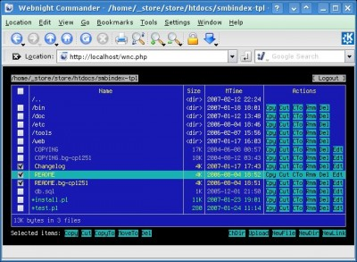 Webnight Commander 1 screenshot