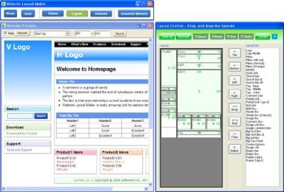 Website Layout Maker 4.08 screenshot