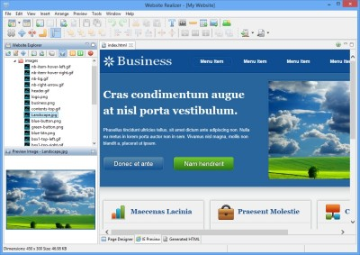 Website Realizer 2.2.0 screenshot