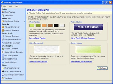 Website Toolbox Pro 1.2 screenshot