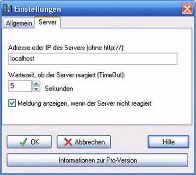 WebsitePing Lite 1.2 screenshot