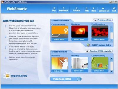 Websmartz Flash Intro Builder 3.0 screenshot