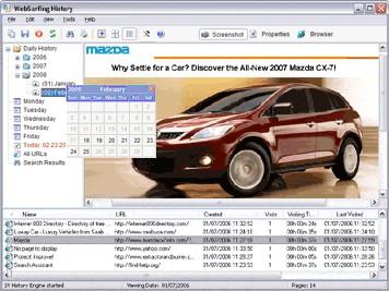 WebSurfing History 2.1 screenshot