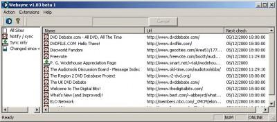 Websync 1.50 screenshot