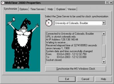 WebTime 2000 3.8 screenshot
