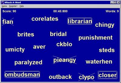 Whack-A-Word 1.0.0.1 screenshot