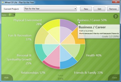 Wheel Of Life 2.2.1405.2 screenshot