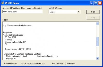 WHOIS ActiveX Control 5.0.0.1 screenshot