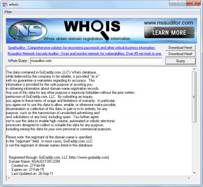 whois 3.1.2 screenshot