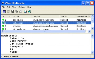 WhoisThisDomain 2.40 screenshot
