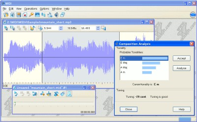 WIDI Recognition System Standard 4.03 screenshot