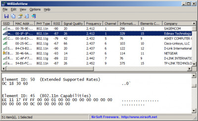 WifiInfoView 2.46 screenshot
