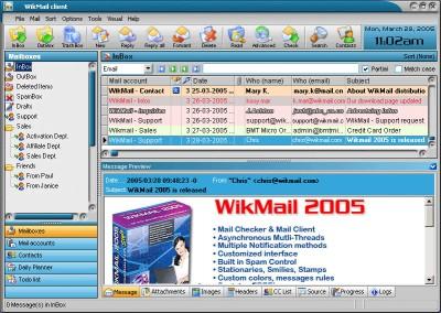 WikMail 1945 screenshot