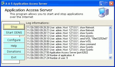Wildbat Application Access Server 1.0.28 screenshot