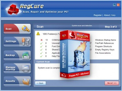 WIN REGCURE 2007.15 screenshot