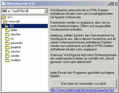 Win2Apache 0.83 screenshot
