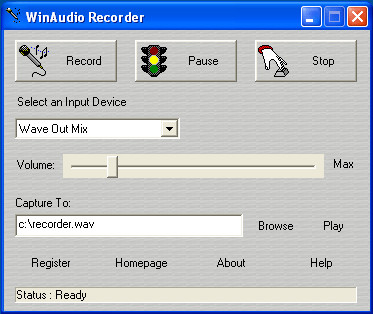 WinAudio Recorder 2.0.2.4 screenshot