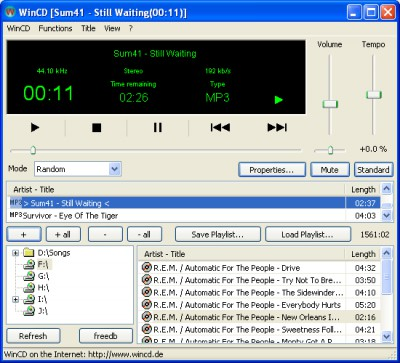 WinCD 2.71 screenshot
