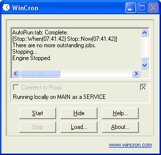 WinCron 4.3 screenshot