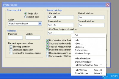Window Hide Tool 1.9 screenshot