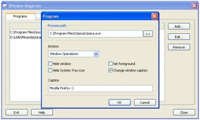 Window Magician 1.1.3 screenshot