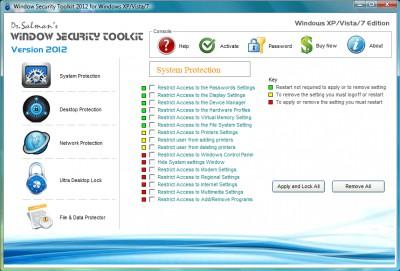 Window Security Toolkit 2012 screenshot