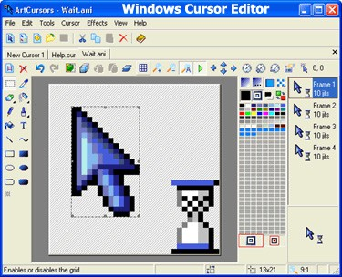 Windows Cursor Editor 5.23 screenshot
