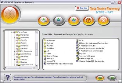 windows Data Restoration software 2.0.1.5 screenshot