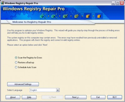 Windows Registry Repair Pro 3.0 screenshot