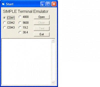 Windows Std Serial Comm Lib for VB 7.0 screenshot