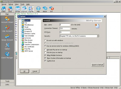 WinFtp Server 2.4.0 screenshot