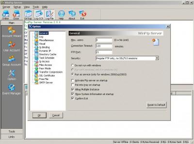 WinFtp Server 2.4.0 screenshot