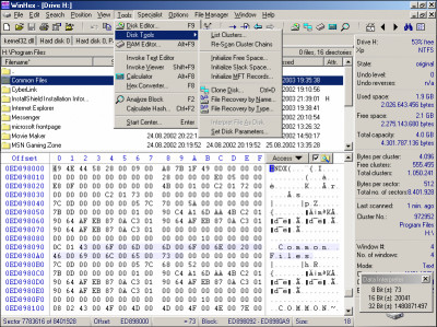 WinHex 19.6 screenshot