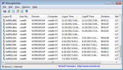 WinLogOnView 1.32 screenshot