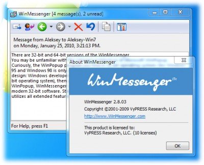 WinMessenger 2.8.05 screenshot