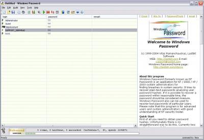 WinPassword 6.0.1509 screenshot