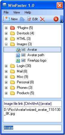 WinPaster 1.2.0 screenshot