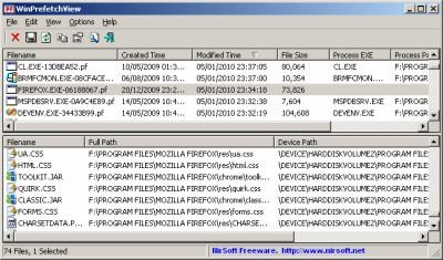 WinPrefetchView 1.35 screenshot