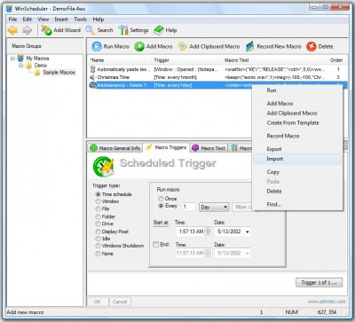 WinScheduler, Free Edition 7.6.9 screenshot