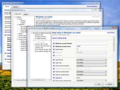 WinSSHD 5.02 screenshot