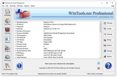 WinTools.net Professional 19.5 screenshot