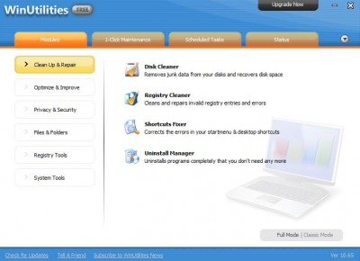 WinUtilities Free Edition 13.24 screenshot