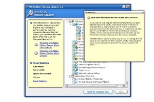 WinUtilities History Cleaner 3.95 screenshot